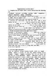 English worksheet: educatuion