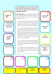 English Worksheets: Jigsaw Reading from Harlan Coben�s novel Play Dead