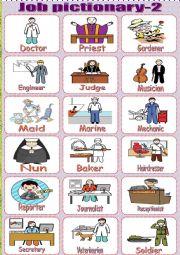 English Worksheets: Job.pictionary part2