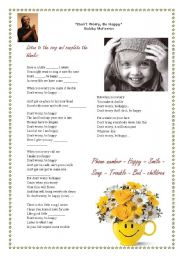 English Worksheets: Don´t  worry be happy