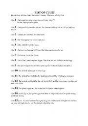 english worksheets lesson on crime forensic report ws 4. Black Bedroom Furniture Sets. Home Design Ideas