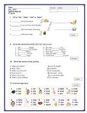 english test for kid pdf