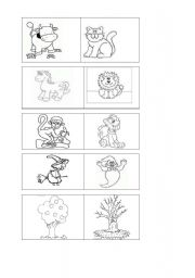 English Worksheets: Find the correct partner
