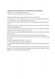 English Worksheets: writing lesson_experience writing