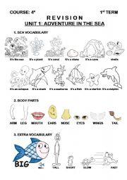 English Worksheets: SEA ANIMALS (1/3)