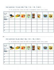 English Worksheets: Do you like_ Food Survey