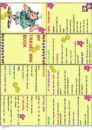 English Worksheet:  TRAVEL MINI BOOK
