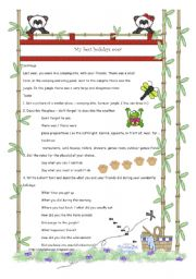 English worksheet: Camp Granada Project