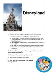English Worksheets: Disneyland
