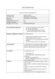 lesson plan (speaking, countries) - ESL worksheet by jerenn