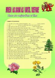 English Worksheets: WHEN, AS SOON AS,UNTIL, BEFORE