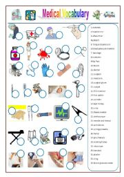 English Worksheets: Medical/Health Vocabulary