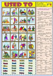 English Worksheets: Used to with Answer Key