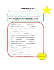English Worksheet: Test Conditionals Type 1 and 2