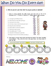 English Worksheet: Listening