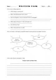 English Worksheets: Description writing task