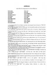 English Worksheets: ANIMAL DEFINITIONS
