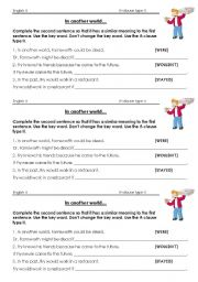 if clause type II worksheet Futurama what-if machine conditional