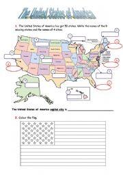 English Worksheet: United States of America