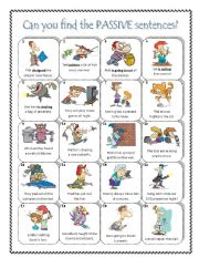 English Worksheets: PASSIVE - transform active to passive