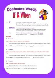 Confusing words: If & When