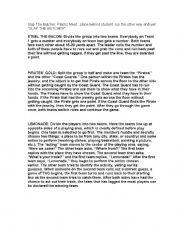 English Worksheet: Drama Games