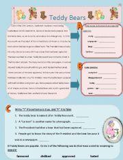 English Worksheets: Teddy bears