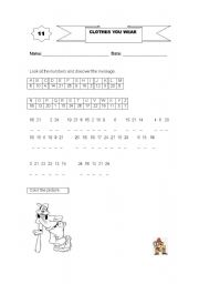 English Worksheets: Discover the message