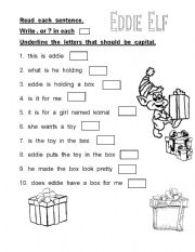 English Worksheet: Punctuation for young learners