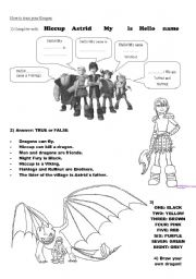 English Worksheets: How to train  your Dragon!