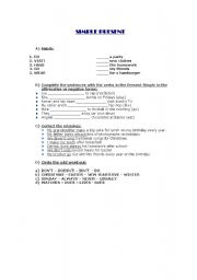 English worksheet: Simple Present
