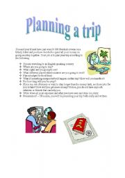 English Worksheets: Planing a trip
