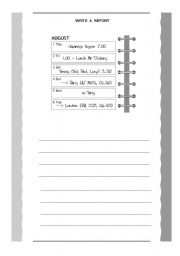 English Worksheets: Make a report