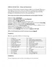 English Worksheets: A Subway/Metro Scene - Idioms and Expressions