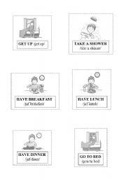 English Worksheets: DAILY RUTINES