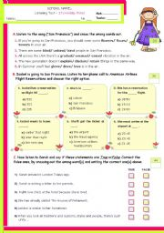 English Worksheets: It�s Holiday Time!  -  Listening Comprehension
