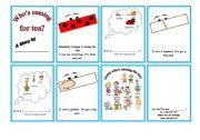 English Worksheet: Who�s coming for tea? Mini Book