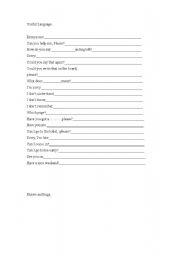 English Worksheets: Useful Language