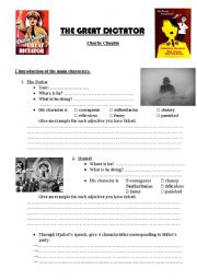 English Worksheets: The Great Dictator - Charlie Chaplin