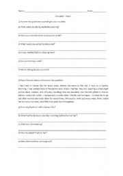 English Worksheets: Present / Past continuos questions