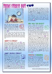 persuasive essay teenage stress
