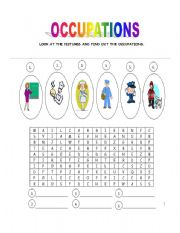 English Worksheets:  OCCUPATIONS.