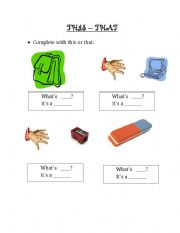 English Worksheets: THIS-THAT