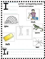 Abc Letter Ii As Beginning Sound And Sentences