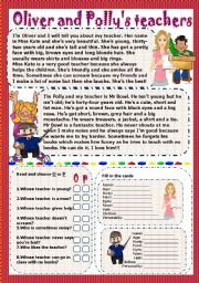 English Worksheets: oliver and polly�s teachers