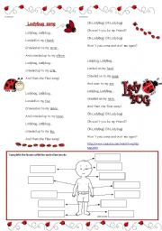 English Worksheets: Ladybug song