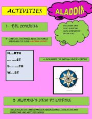 English Worksheets: ALADIN ACTIVITIES (2/3