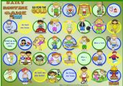 English worksheet: Sports Board Game