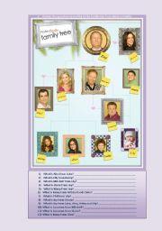 English Worksheet: Modern Family Tree