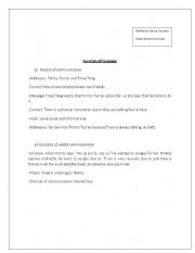 English Worksheets: functions of language